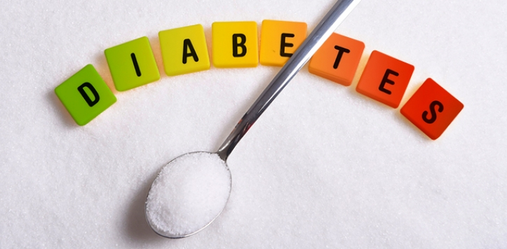 Diabetes logo with spoon of sugar | Featured image for the Diabetic Foot blog.