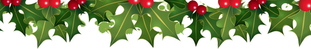 christmas banner holly clipart