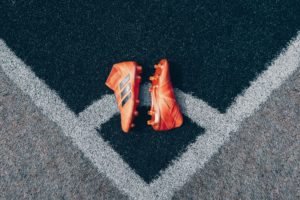 Orange Soccer Boots