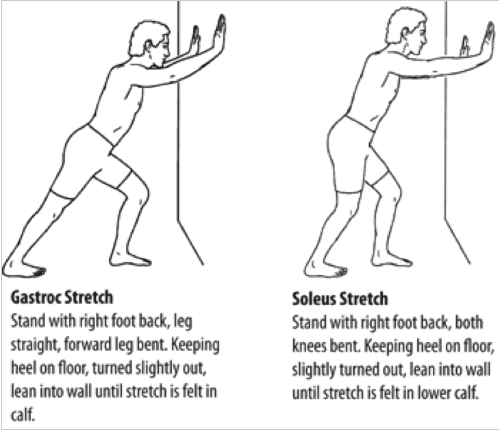 diagram of stretching exercises