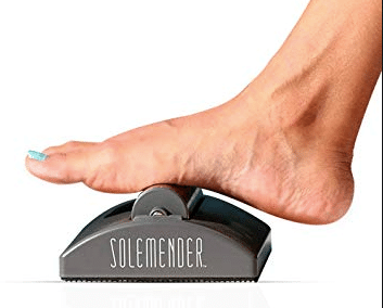 Foot on a foot roller