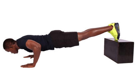 Exercise at home: Man performing push up