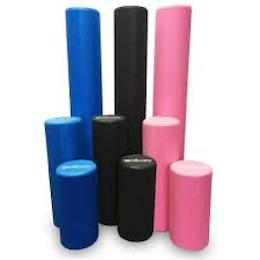 Colourful foam rollers